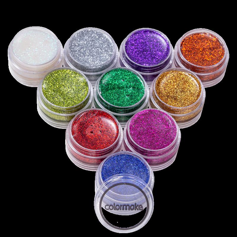 Kit Colormake Glitter Cremoso (10 Unidades)