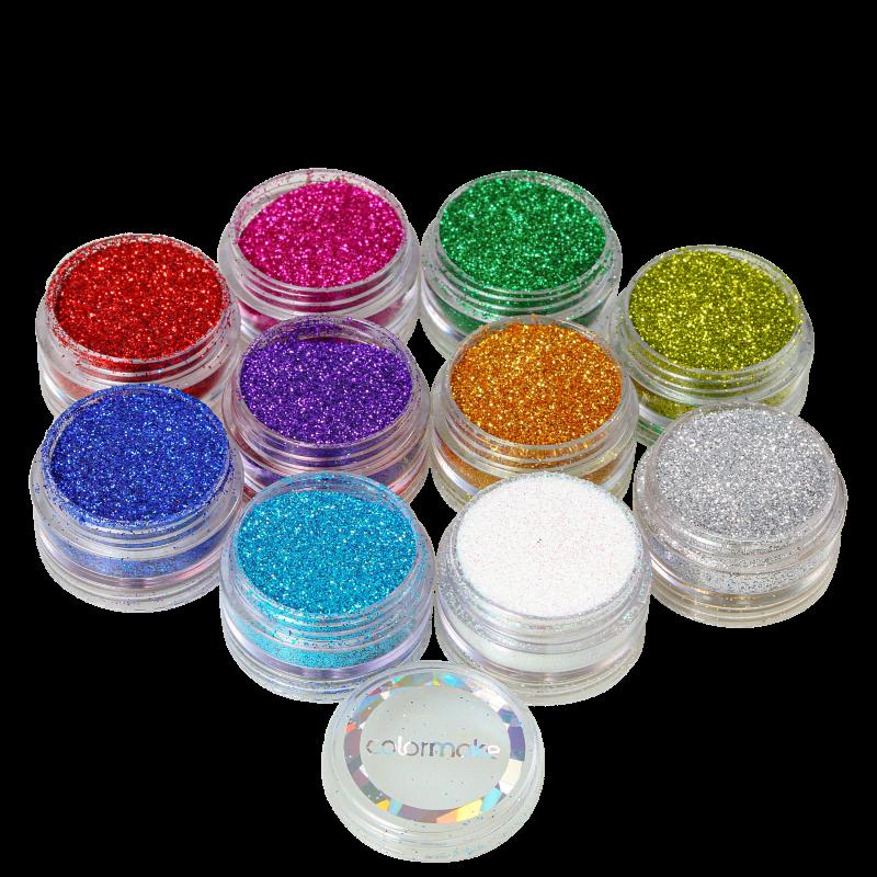 Kit Colormake Glitter em Pó (10 Unidades)