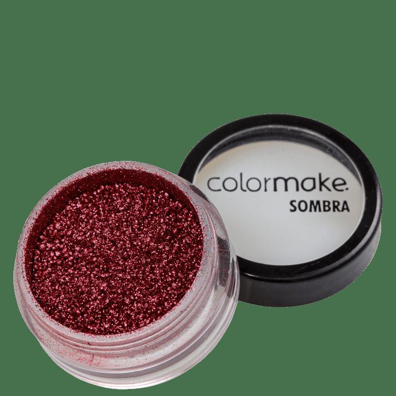 Colormake Iluminadora Vermelho Escuro - Sombra Cintilante 2g