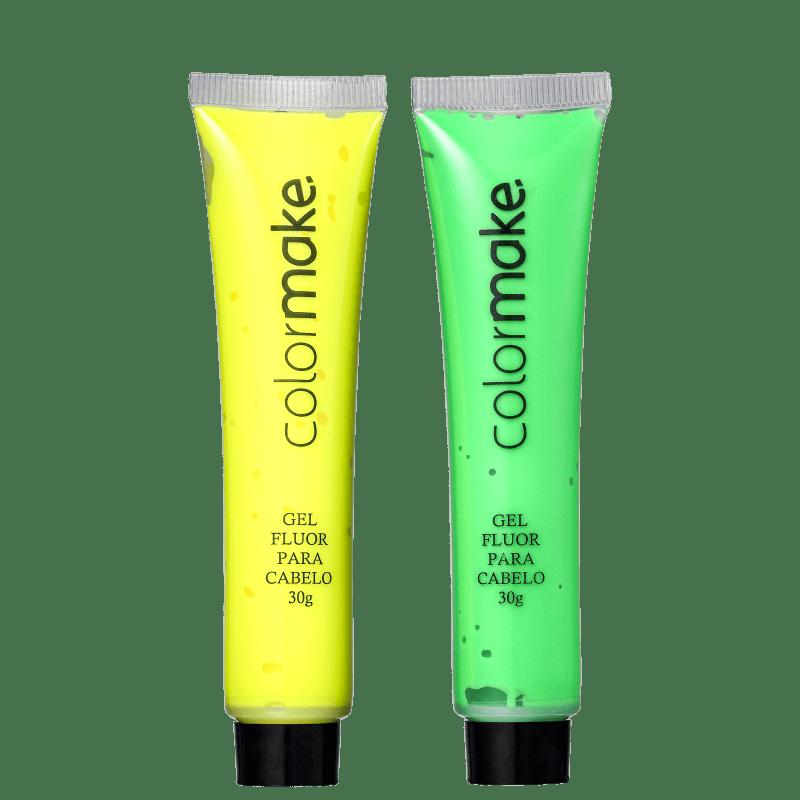 Kit Colormake Gel Fluorescente Verde e Amarelo (2 Unidades)
