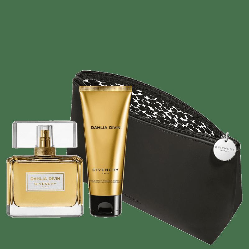 Conjunto Dahlia Divin Givenchy Feminino - Eau de Parfum 75ml + Loção Corporal 75ml + Nécessaire