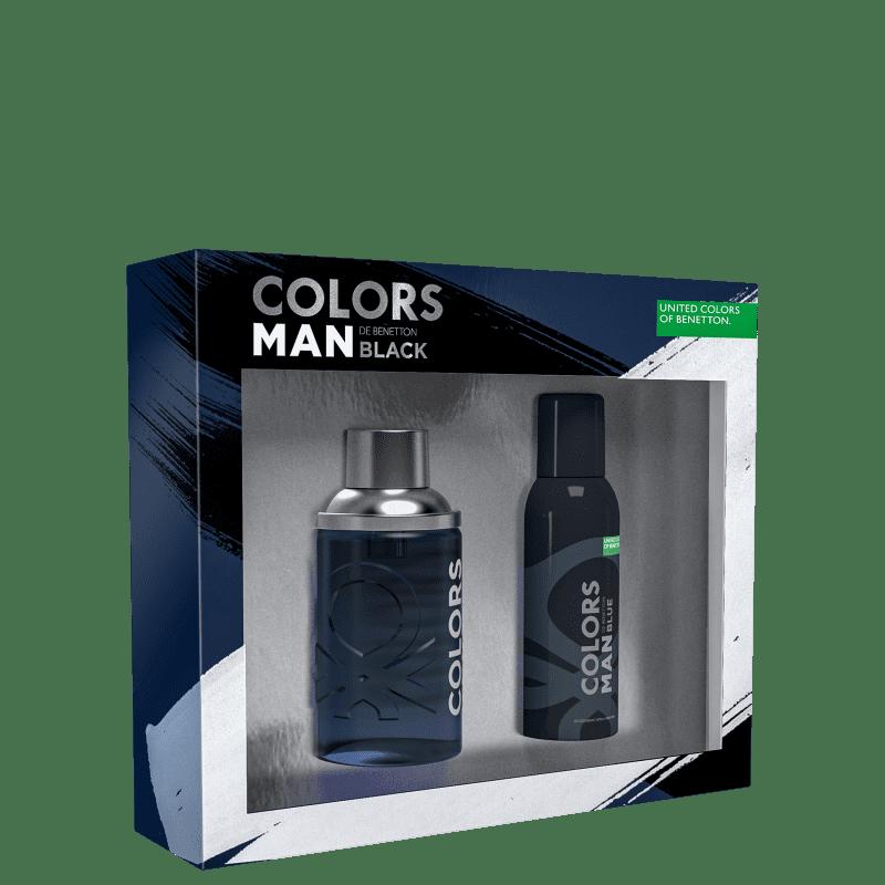 Conjunto Colors Man Black Benetton Masculino - Eau de Toilette 100ml + Gel de Banho 75ml