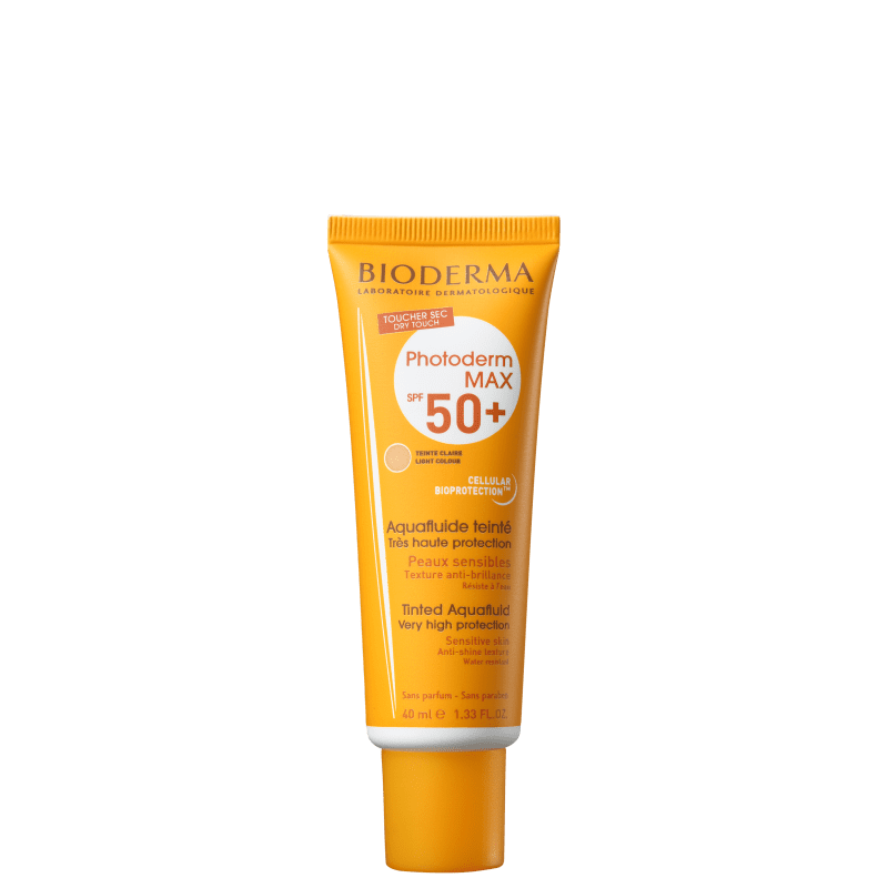 Bioderma Photoderm Max Aquafluide FPS 50+ Cor Claro - Protetor Solar Facial 40ml