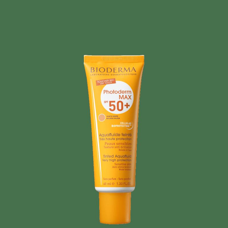 Bioderma Photoderm Max Aquafluide FPS 50+ Cor Dourado - Protetor Solar Facial 40ml
