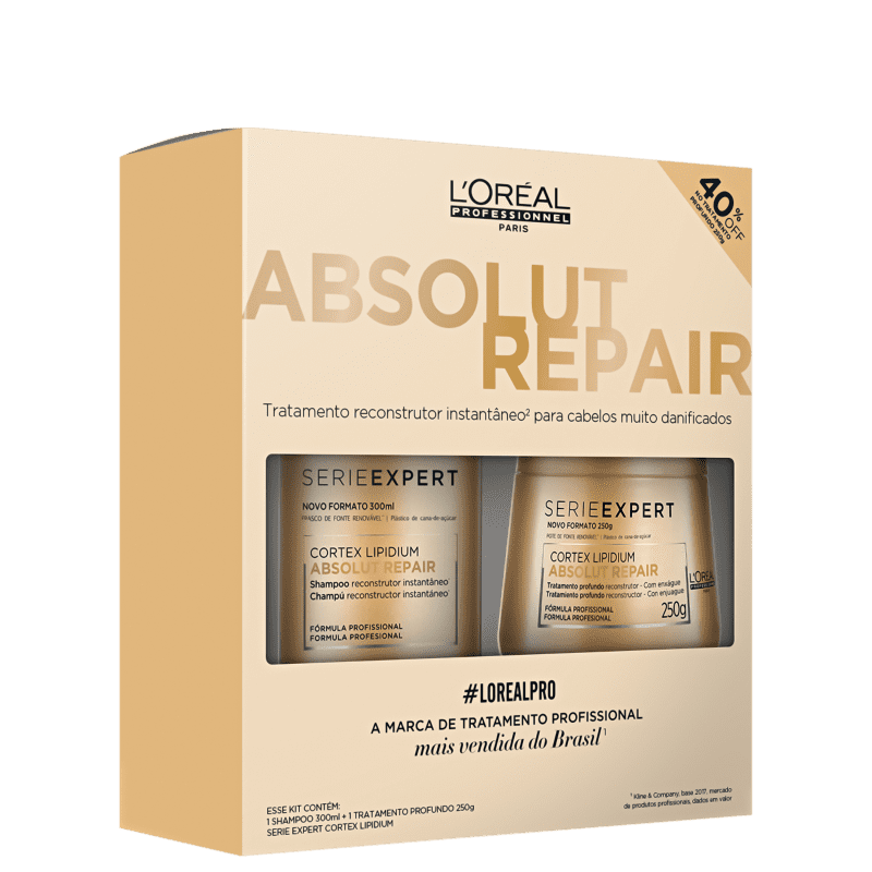 Kit L'Oréal Professionnel Absolut Repair Tratamento (2 Produtos)