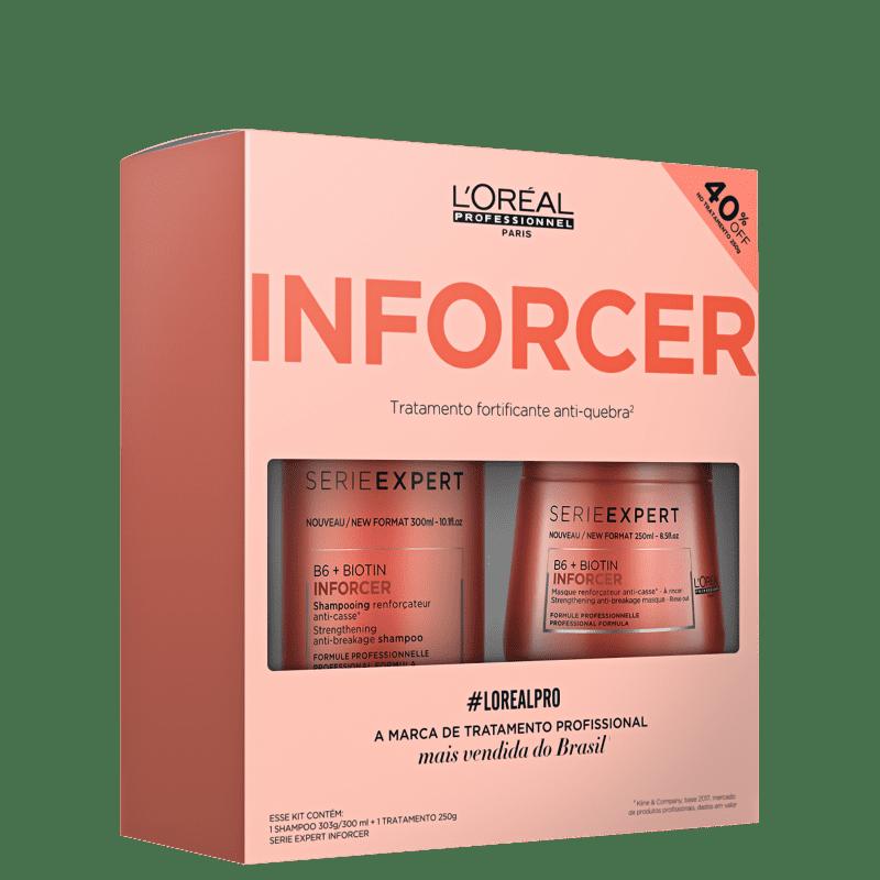 Kit L'Oréal Professionnel Inforcer Tratamento (2 Produtos)