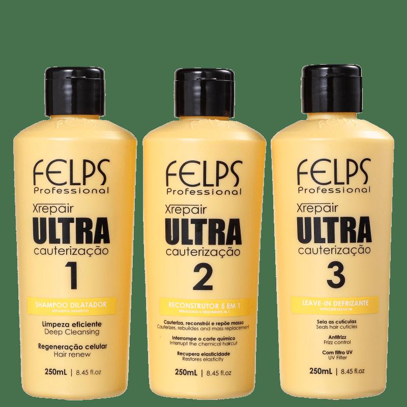 Kit Felps Profissional XRepair Ultra Cauterização (3 Produtos)