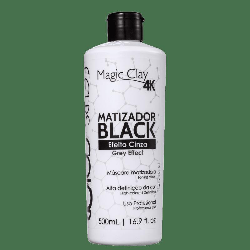 Felps Profissional Color Magic Clay 4K Black Efeito Cinza - Máscara Tonalizante 500ml