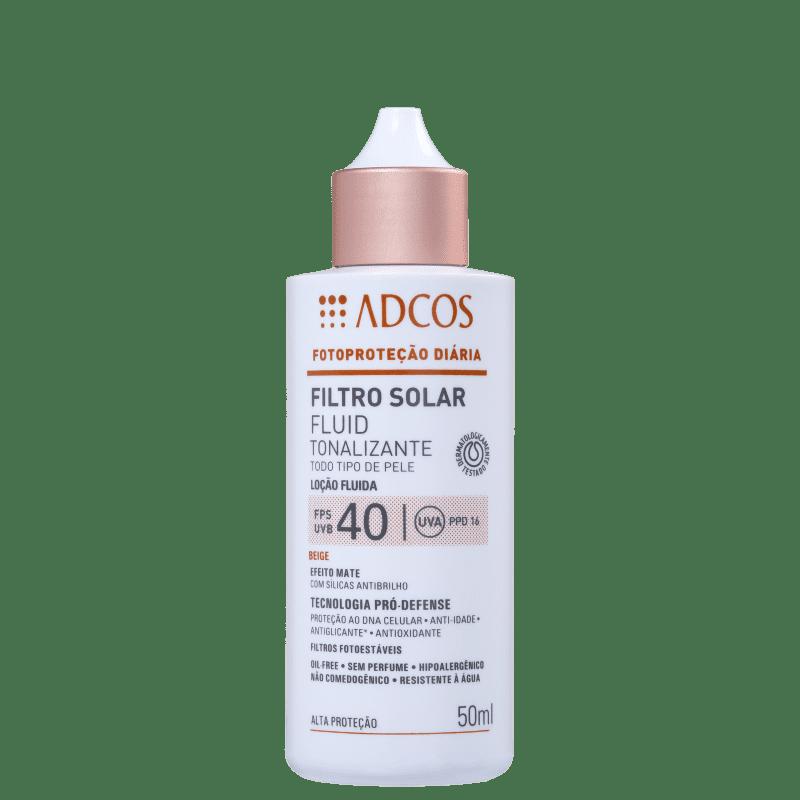 Adcos Fotoproteção Diária Fluid Tonalizante FPS 40 Beige - Protetor Solar com Cor 50ml