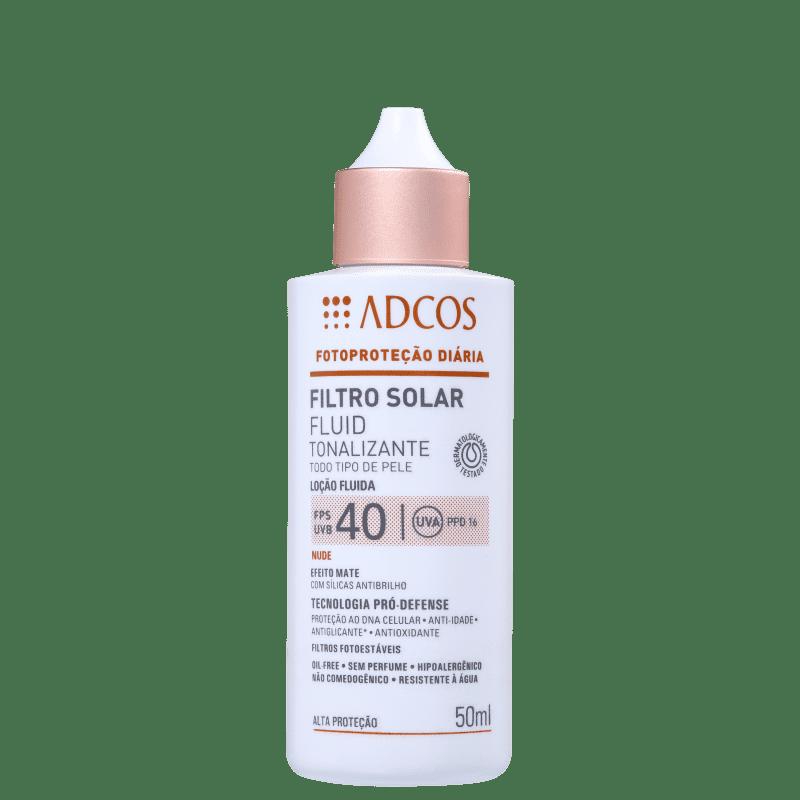 Adcos Fotoproteção Diária Fluid Tonalizante FPS 40 Nude - Protetor Solar com Cor 50ml