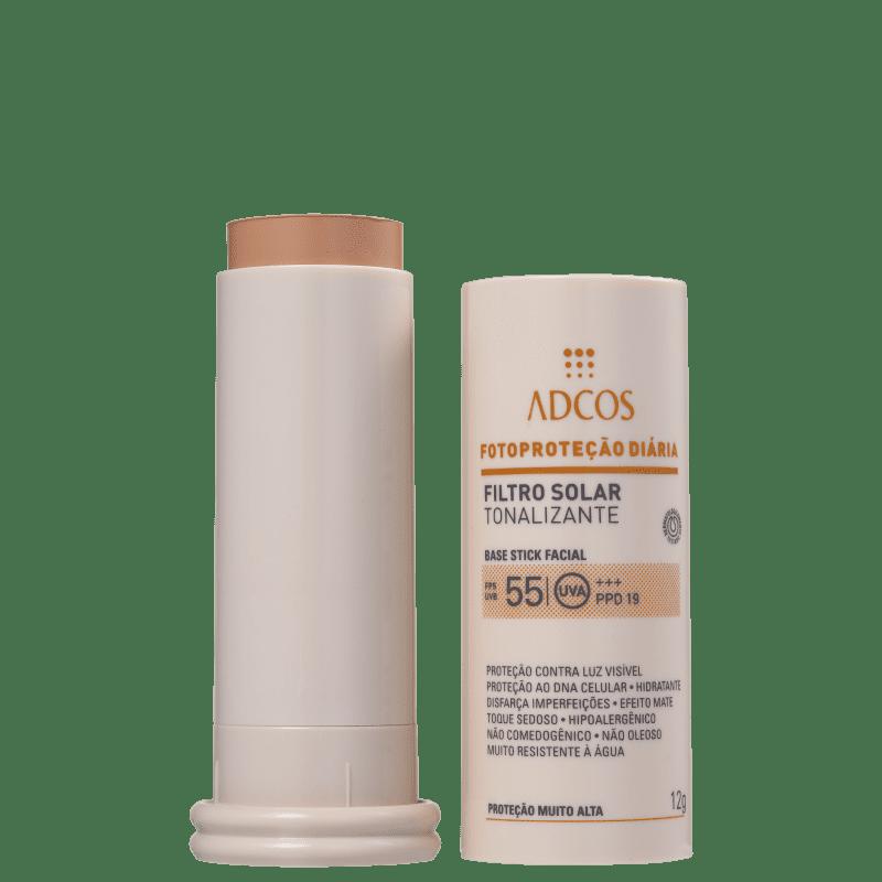 Adcos Fotoproteção Diária Tonalizante Stick FPS 55 Beige - Protetor Solar com Cor 12g