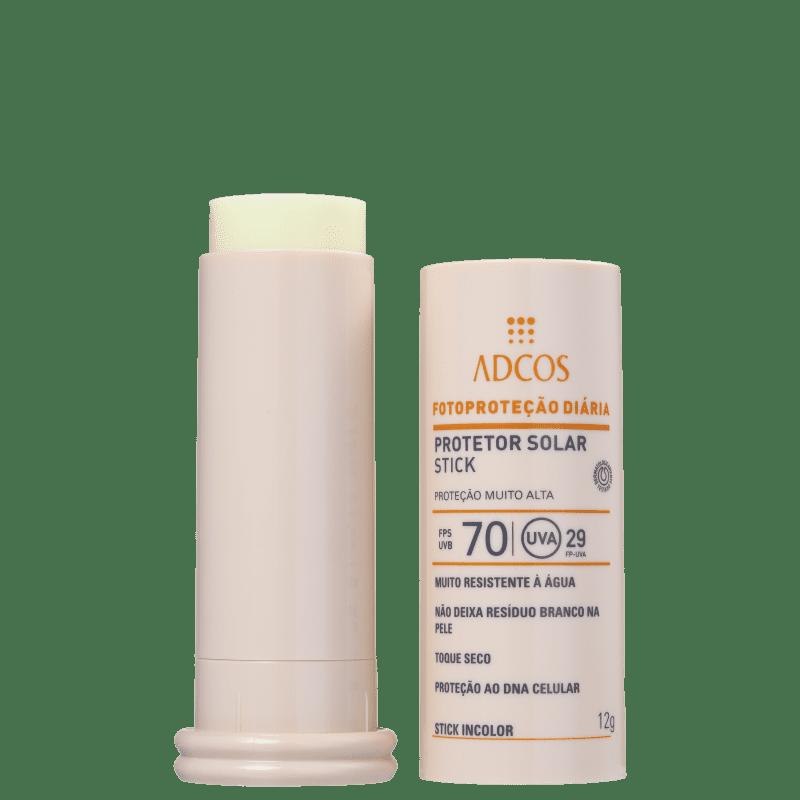 Adcos Fotoproteção Diária FPS 70 Incolor - Protetor Solar Facial 12g
