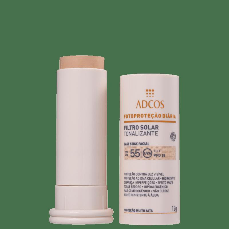 Adcos Fotoproteção Diária Tonalizante Stick FPS 55 Ivory - Protetor Solar com Cor 12g