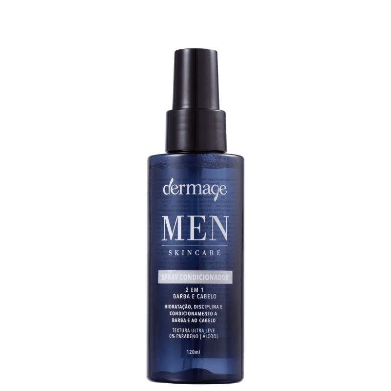 Dermage Men Skincare Condicionador 2 em 1 - Spray Leave-in 120ml