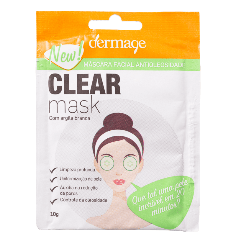 Dermage Clear - Máscara Facial 10g