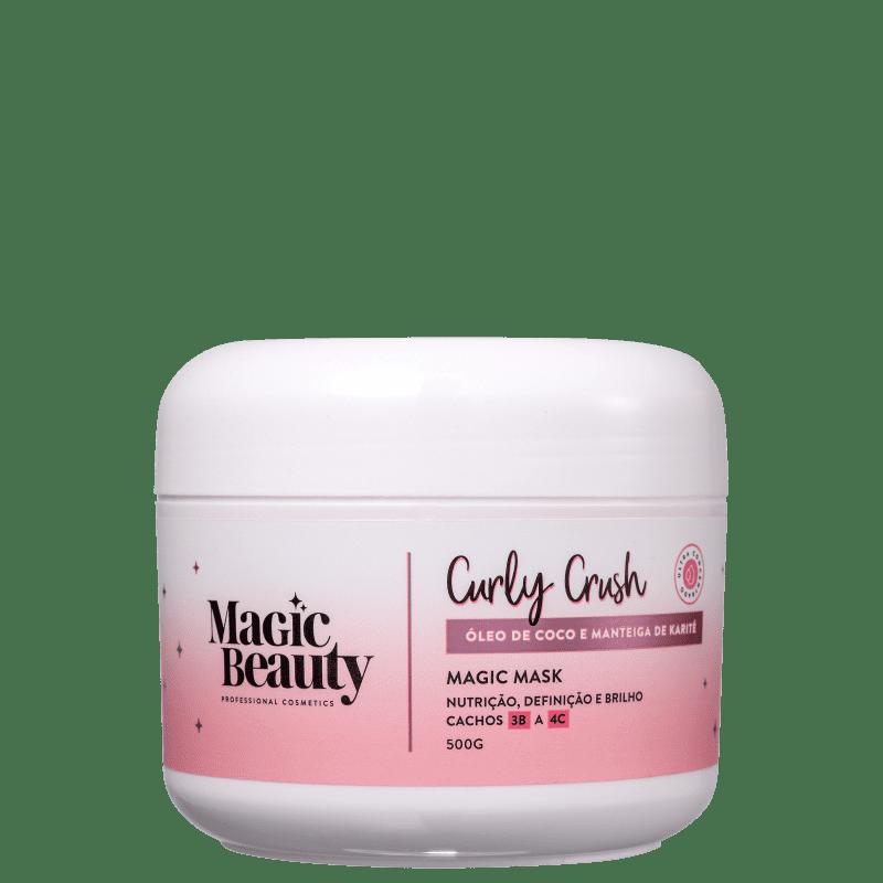 Magic Beauty Curly Crush 3B a 4C - Máscara de Nutrição 500g
