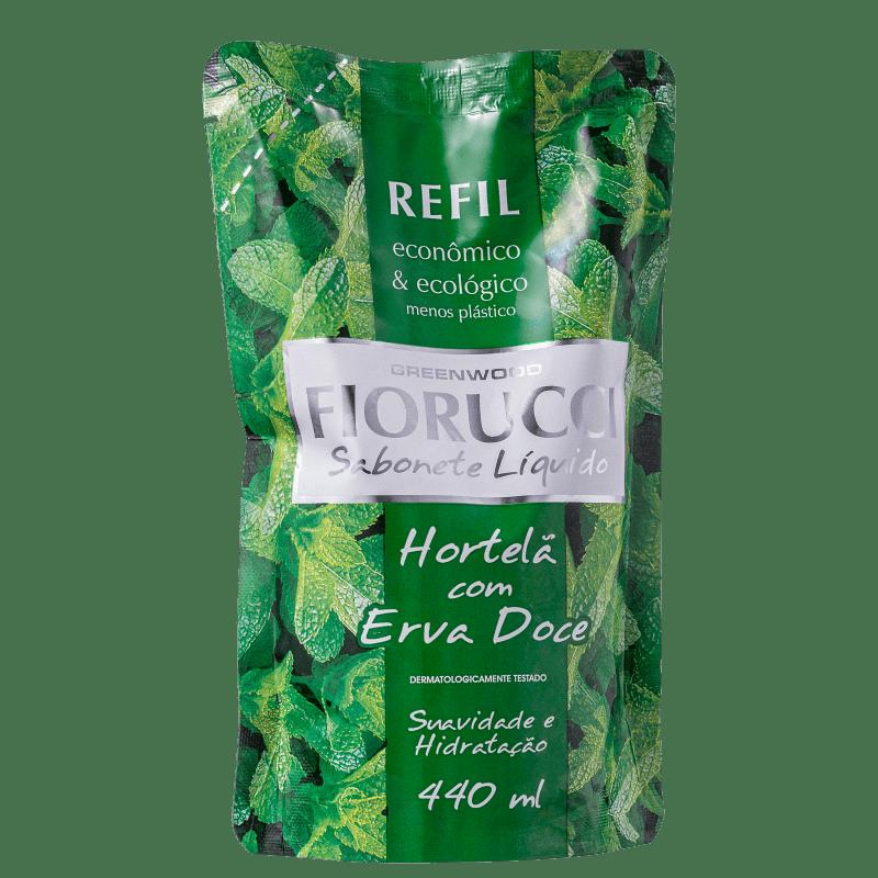 Fiorucci Hortelã com Erva Doce Refil - Sabonete Líquido 440ml