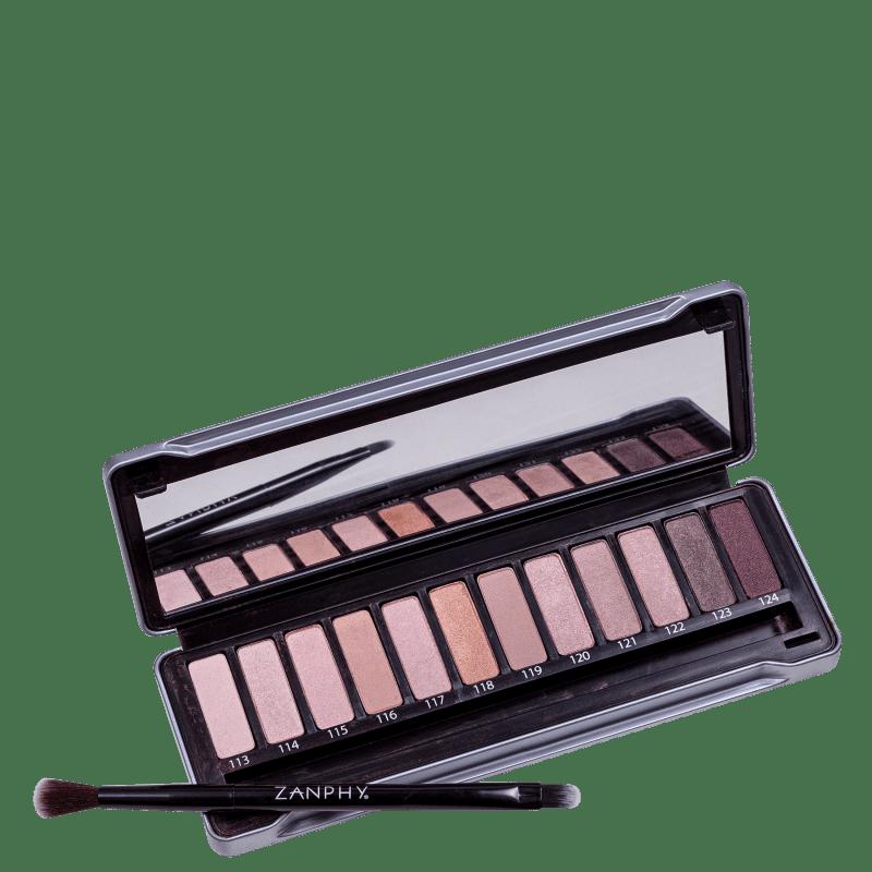 Zanphy Metallic Pack Prata - Paleta de Sombras 24g