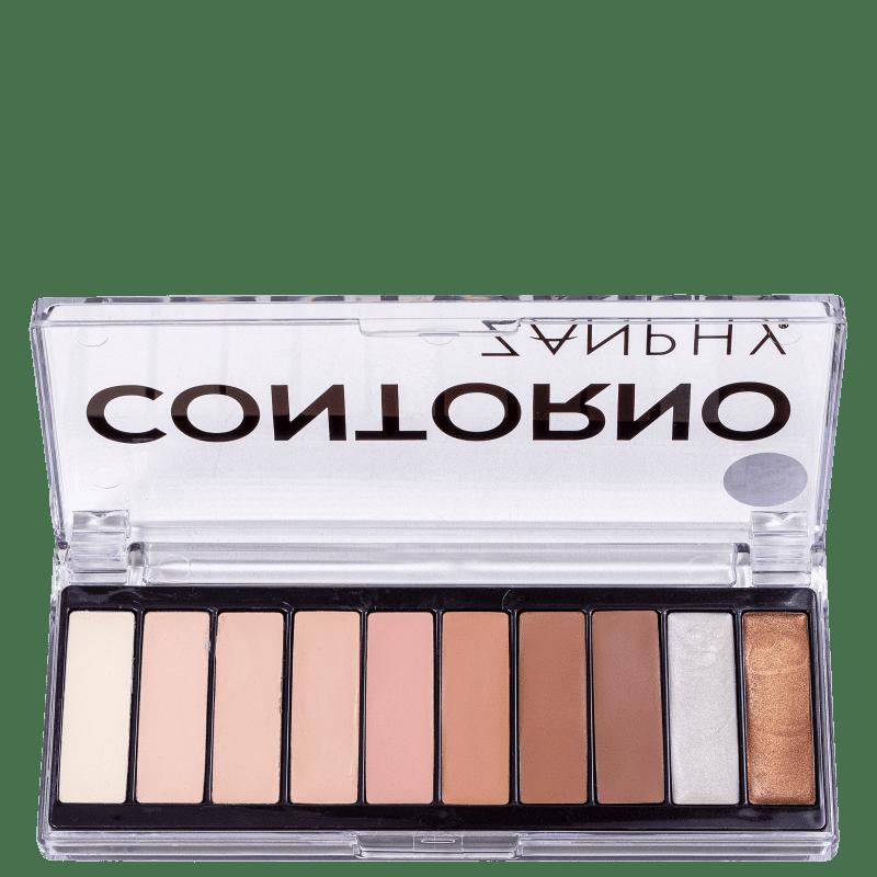 Zanphy Contorno 10 Cores - Paleta de Maquiagem 20g