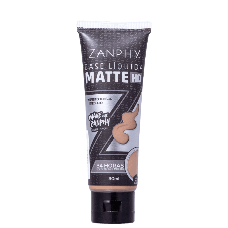 Zanphy Matte HD 05 Marrom Médio - Base Líquida 30ml