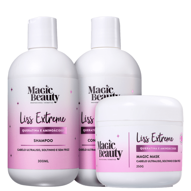 Kit Magic Beauty Liss Extreme Trio (3 Produtos)