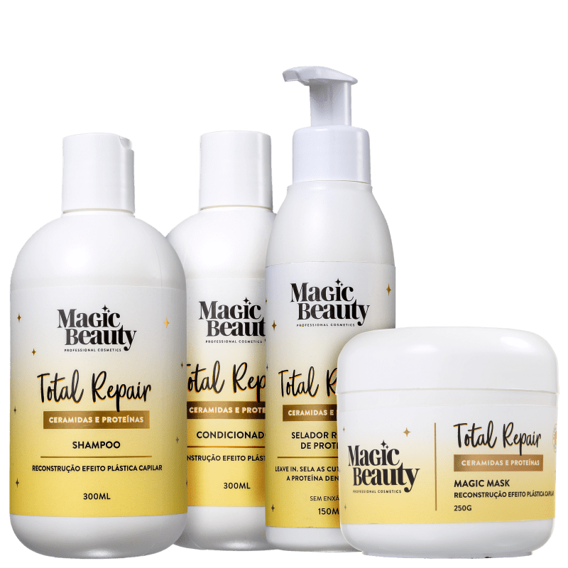Kit Magic Beauty Total Repair Completo (4 Produtos)