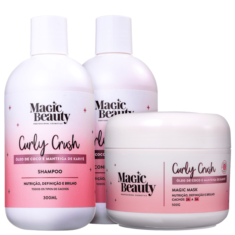 Kit Magic Beauty Curly Crush 2A a 3A Trio (3 Produtos)