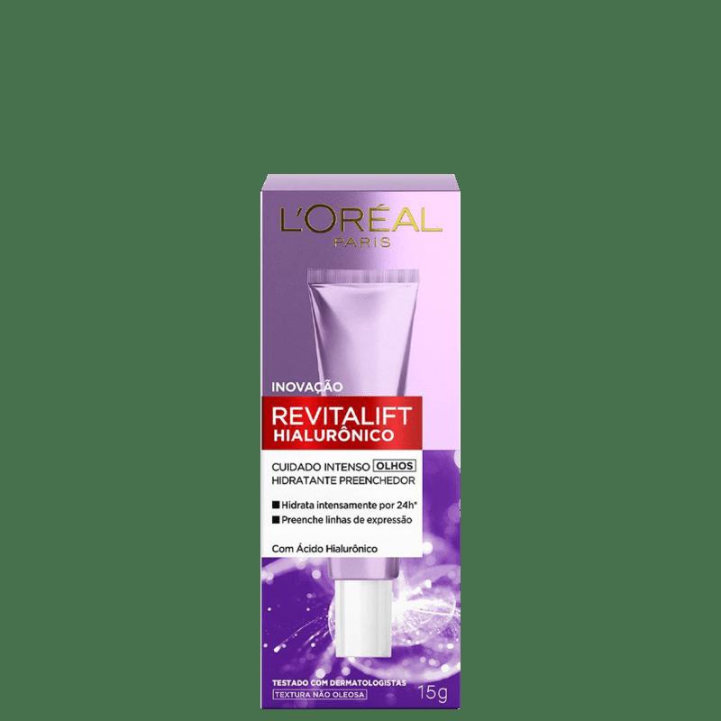 L'Oréal Paris Revitalift Hialurônico - Creme Hidratante para a Área dos Olhos 15ml