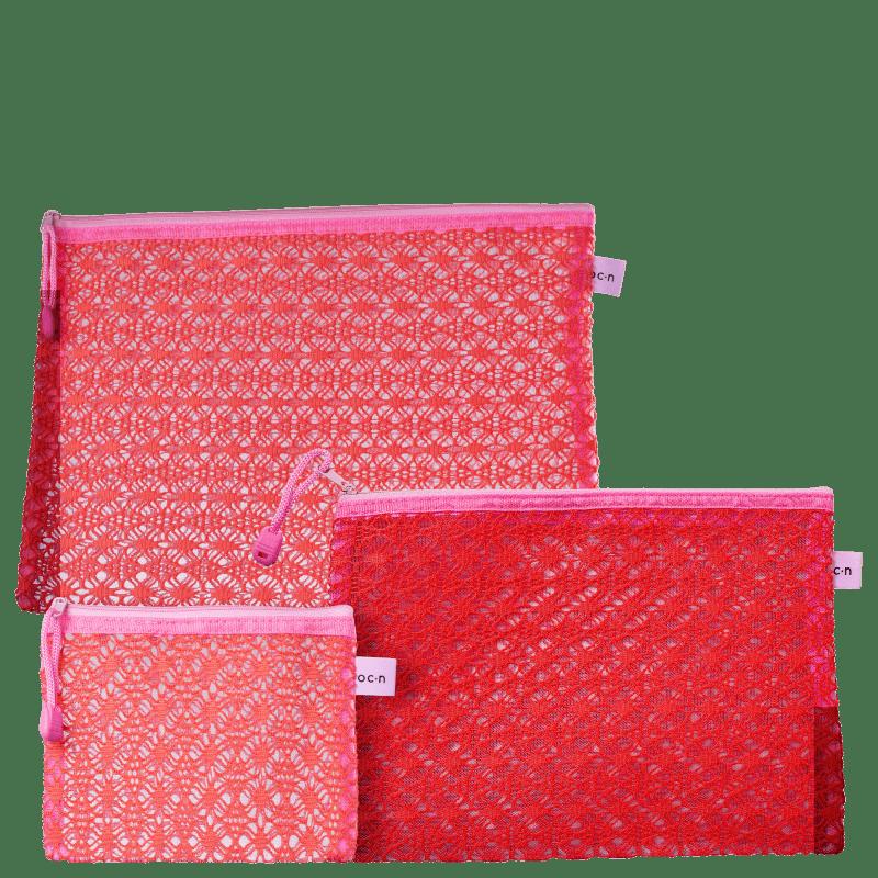 Kit Océane Viagem Lace Pink (3 Produtos)