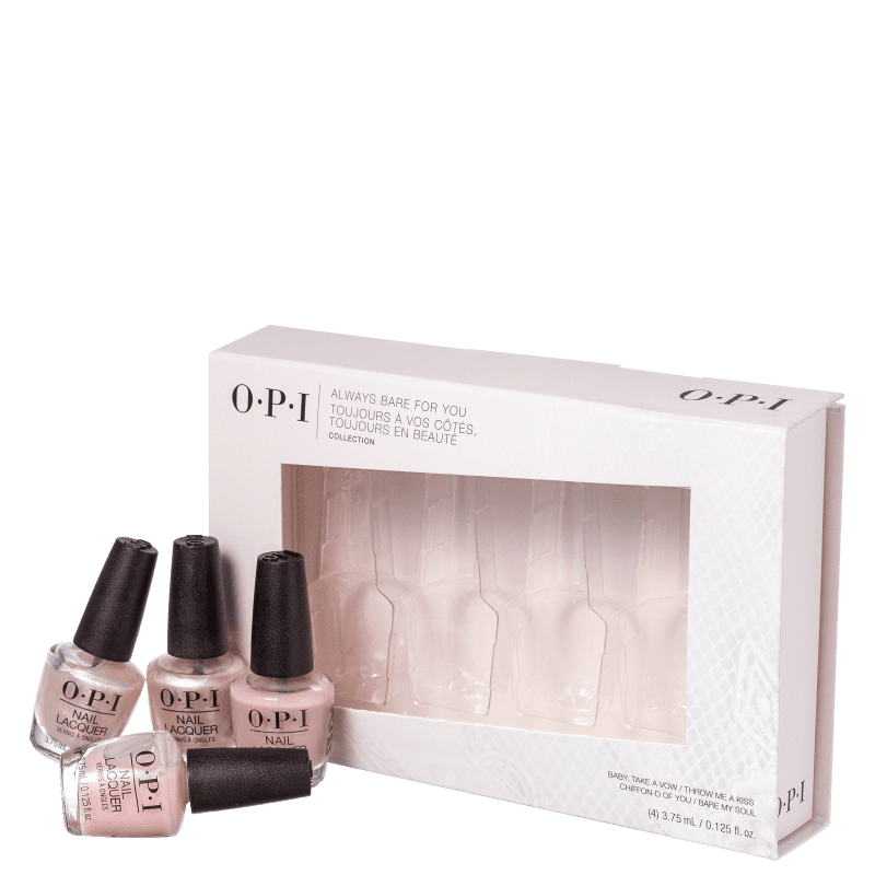 Kit OPI Always Bare For You Mini (4 Unidades)