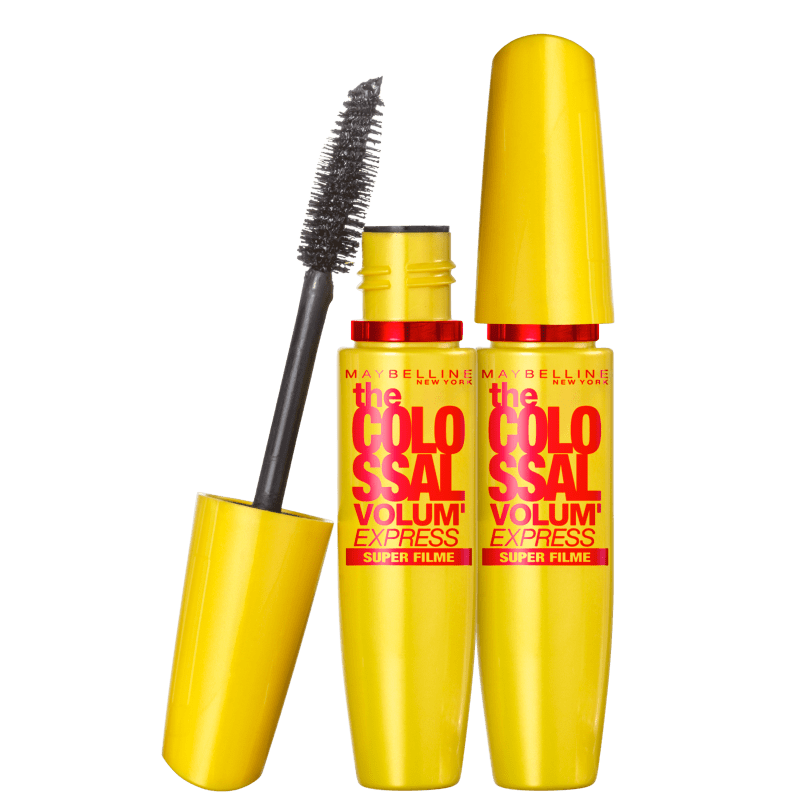 Kit Maybelline The Colossal Volum'Express Super Filme Double - Máscaras para Cílios 2x9,2ml