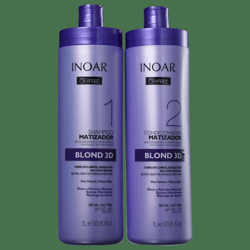 Kit Inoar Oxyfree Blond 3D Salon Duo (2 Produtos)