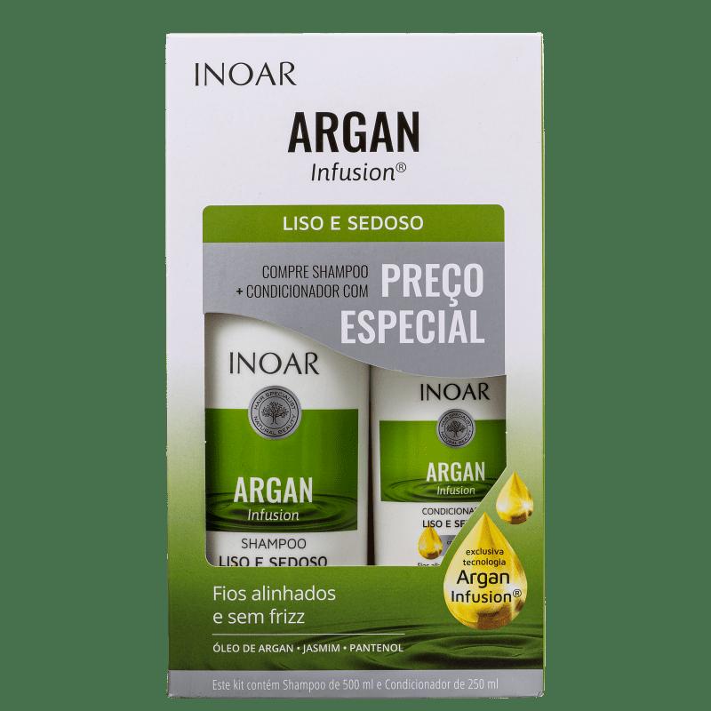 Kit Inoar Argan Infusion Liso e Sedoso (2 Produtos)