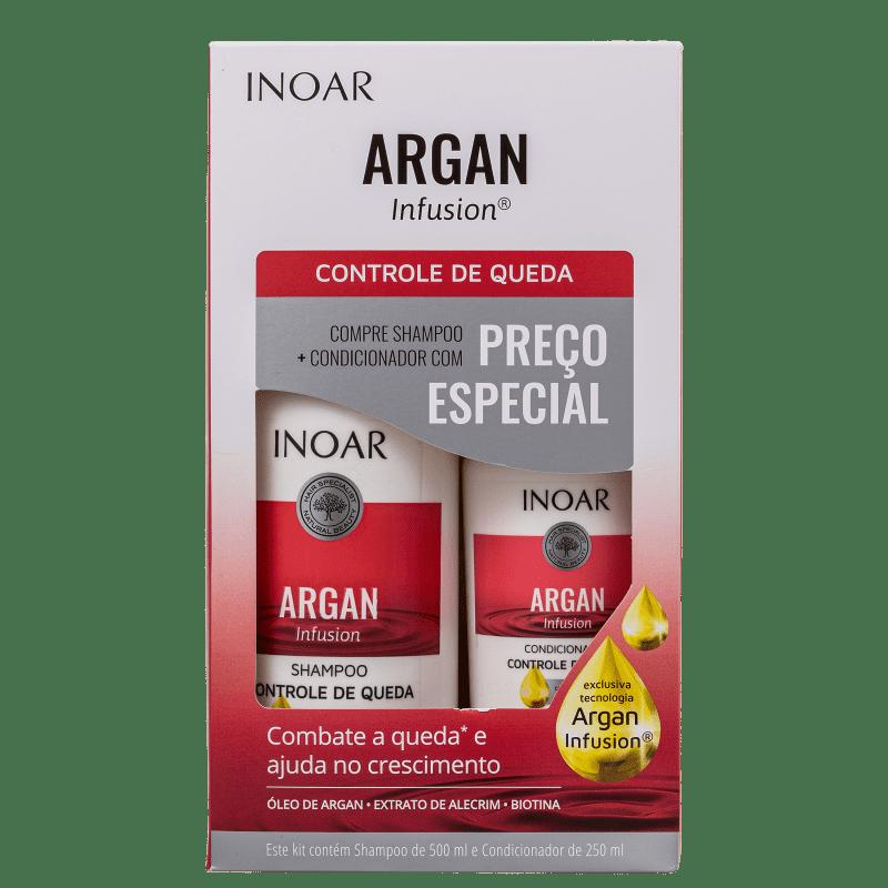 Kit Inoar Argan Infusion Controle de Queda (2 Produtos)