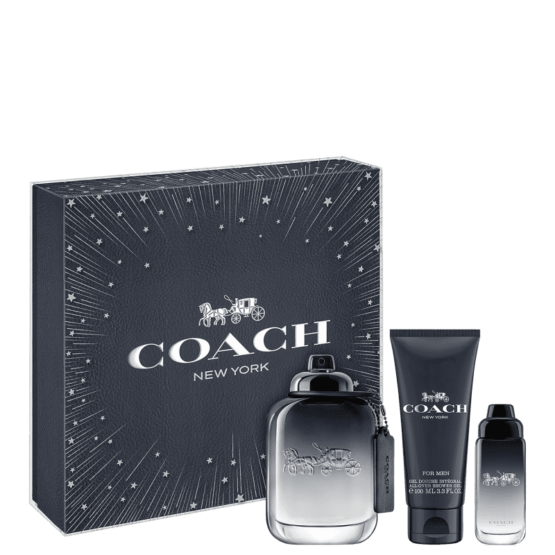 Conjunto Coach for Men Masculino - Eau de Toilette 100ml + Gel de Banho 100ml + Travel Size 15ml