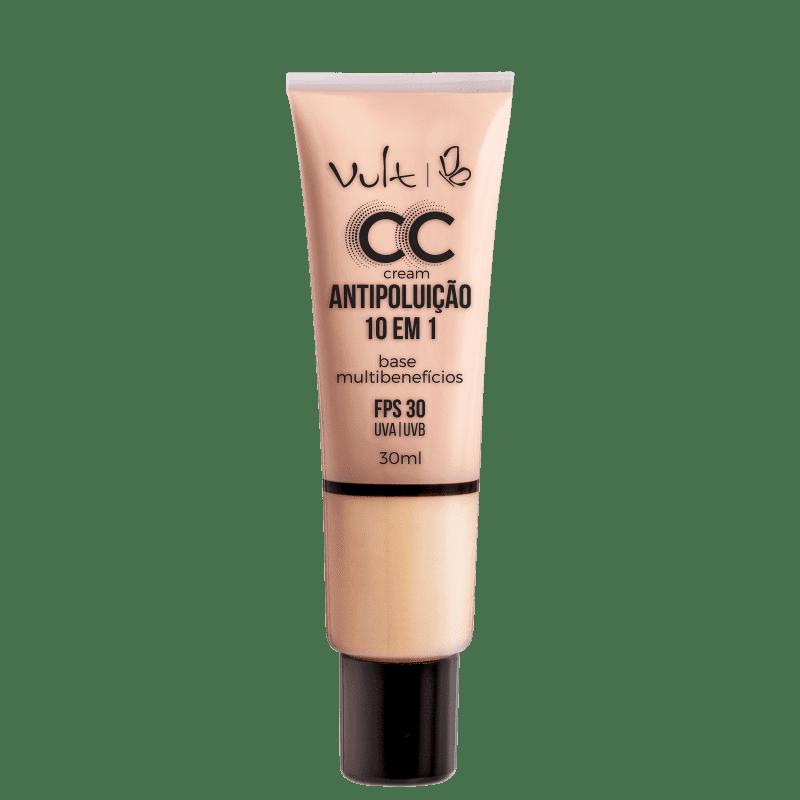 CC Cream Vult Antipoluição 10 em 1 MB01 Bege 30ml