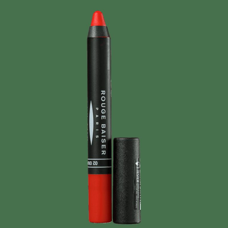 Rouge Baiser Paris Rouge Couleur Intense 02 Orange - Batom Acetinado