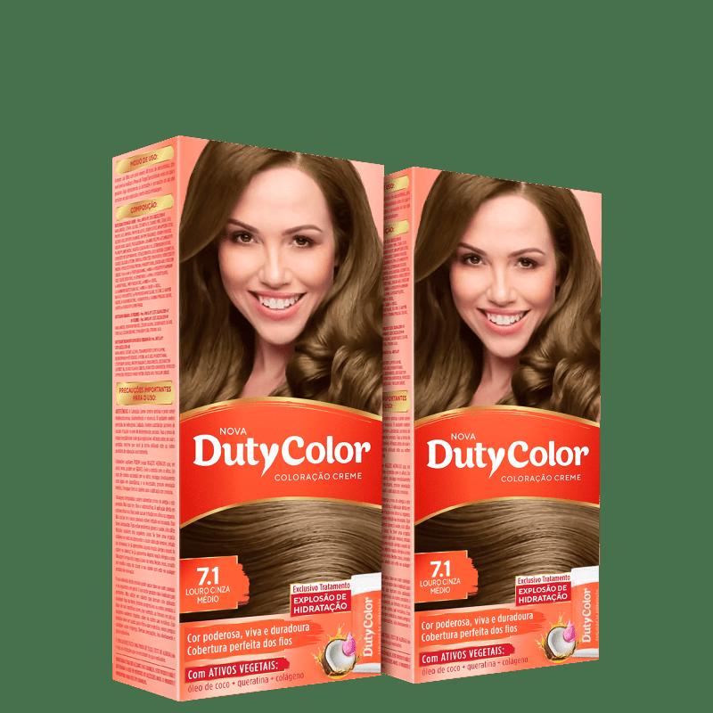 Kit DutyColor 7.1 Louro Cinza Médio Duo - Coloração Permanente (2 Unidades)