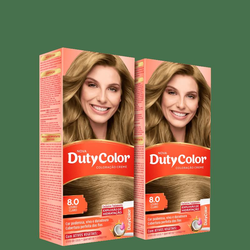 Kit DutyColor 8.0 Louro Claro Duo - Coloração Permanente (2 Unidades)