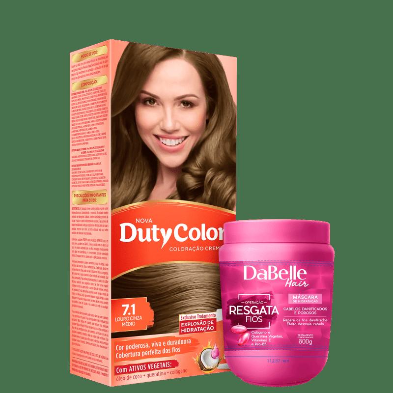 Kit DaBelle Hair DutyColor Resgata Louro Cinza Médio (2 Produtos)