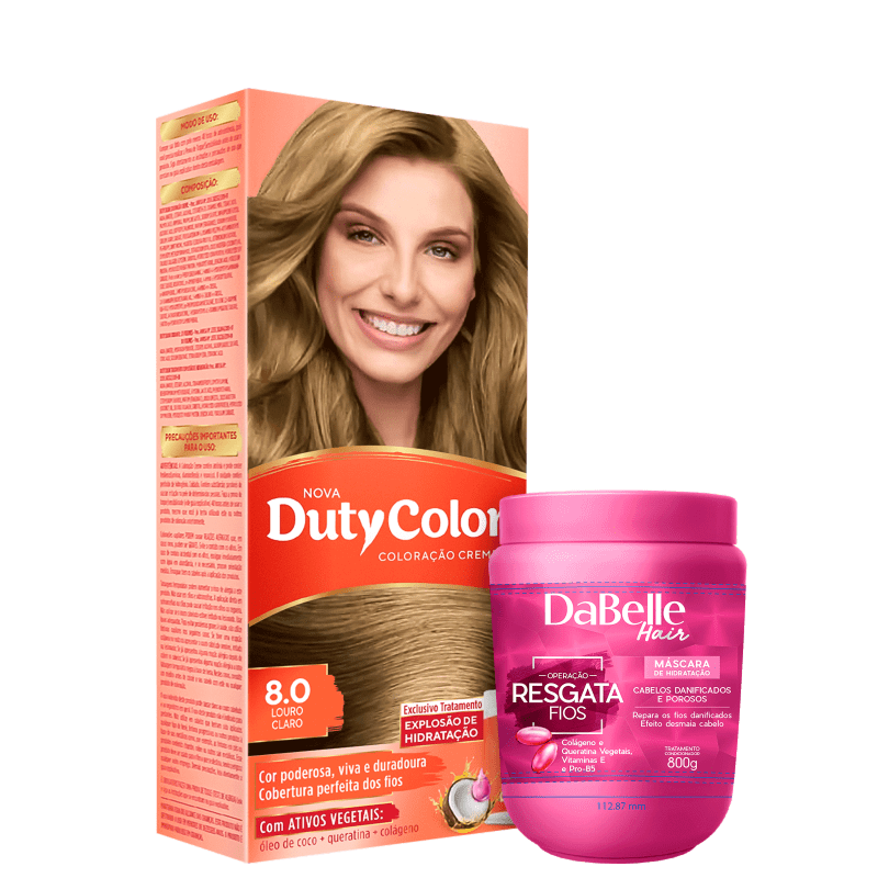 Kit DaBelle Hair DutyColor Resgata Louro Claro (2 Produtos)