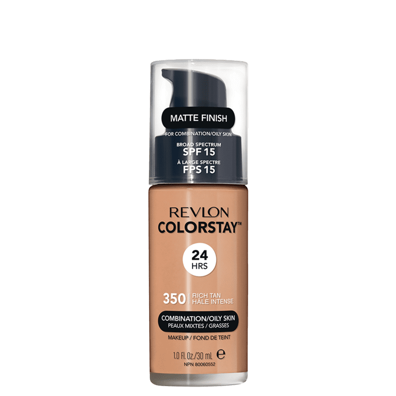 Revlon ColorStay 24 Horas Pele Mista à Oleosa FPS15 350 Rich Tan - Base Líquida 30ml