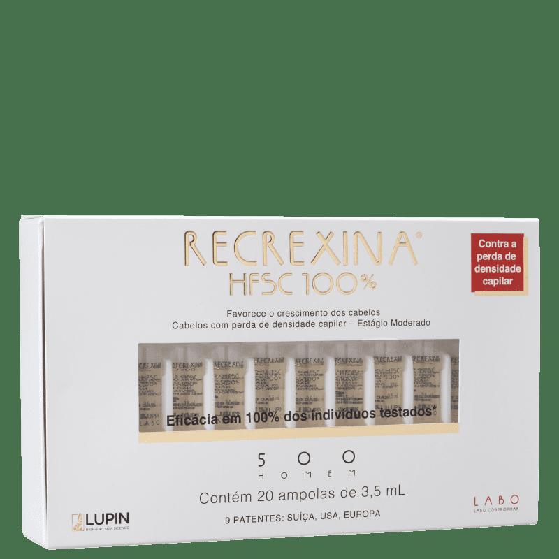 Recrexina HFSC 100% 500 Homem - Ampolas Capilares 20x3,5ml