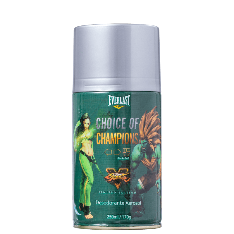 Everlast Choice Of Champions Street Fighter Brasil - Desodorante Masculino 250ml