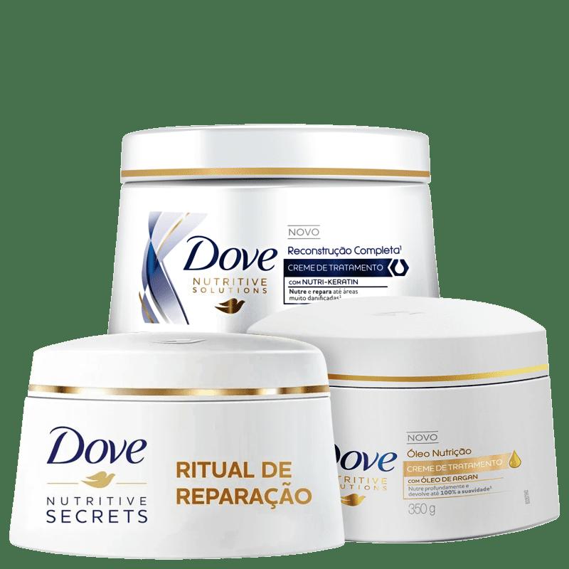 Kit Dove Cronograma Capilar (3 Produtos)