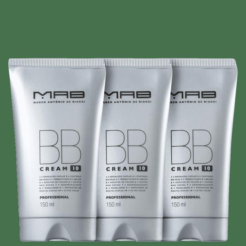 Kit MAB Marco Antônio de Biaggi BB Cream - Leave-in 3x150ml