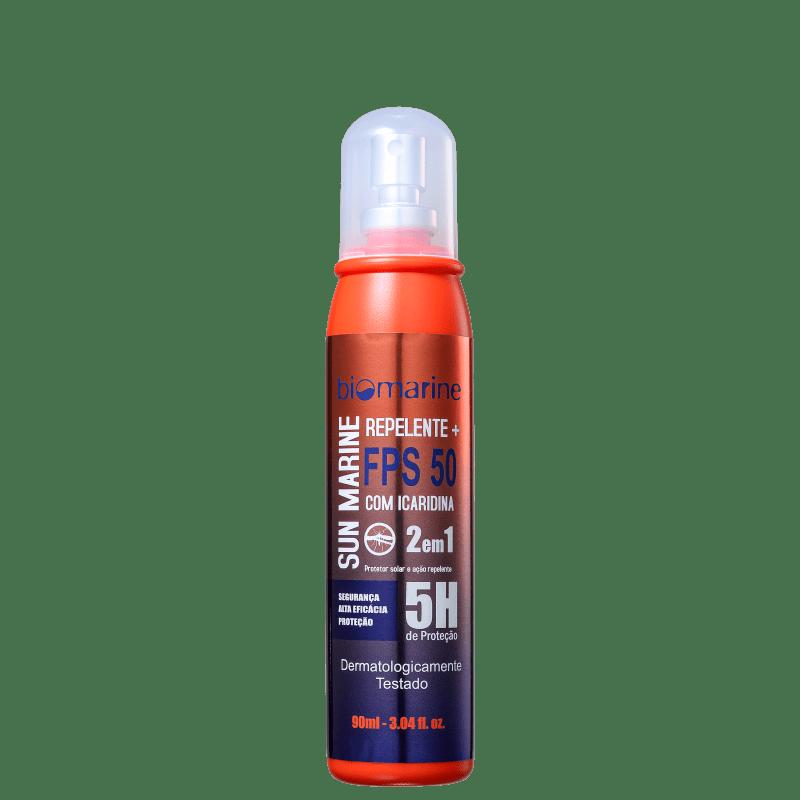 Biomarine Sun Marine FPS 50 com Repelente Icaridina - Protetor Solar em Spray 90ml
