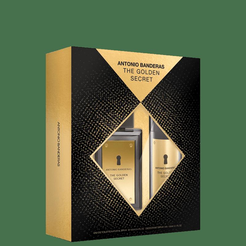 Conjunto The Golden Secret Body Antonio Banderas Masculino - Eau de Toilette 100ml + Desodorante 150ml