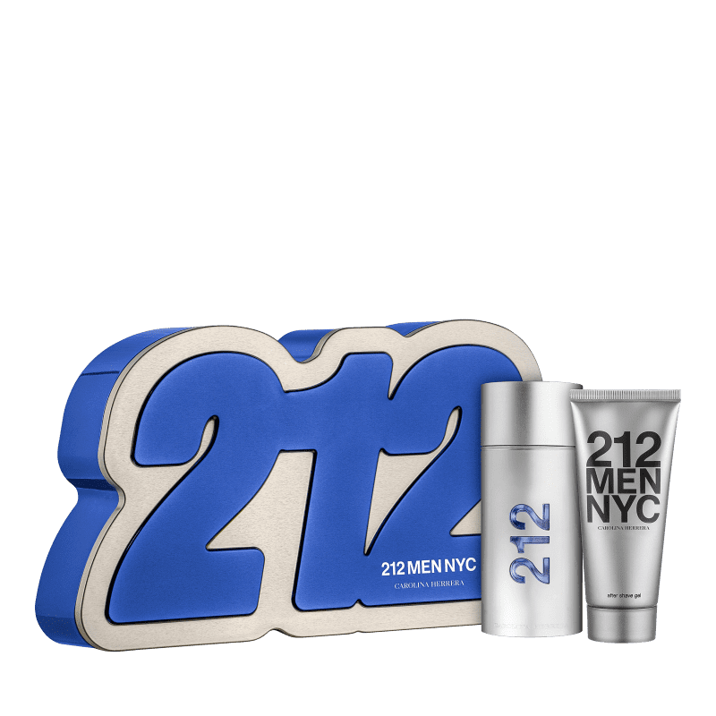 Conjunto 212 Men Box Carolina Herrera Masculino - Eau de Toilette 100ml + Gel de Banho 100ml
