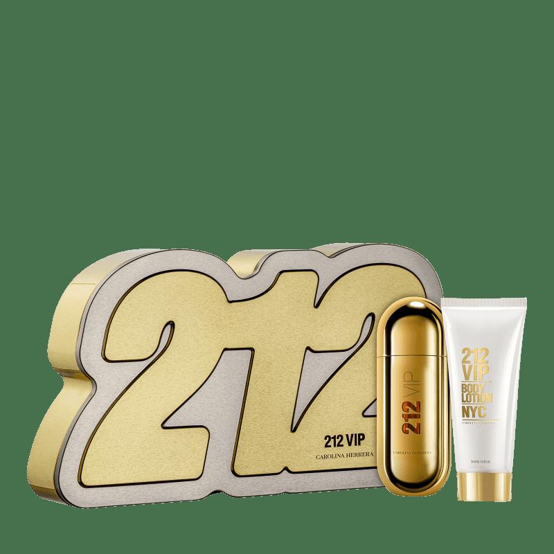 Conjunto 212 Vip Box Carolina Herrera Feminino - Eau de Parfum 80ml + Loção Corporal 100ml